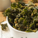 Cheesy Garlic Dehydrated Kale Chips -vegan and paleo