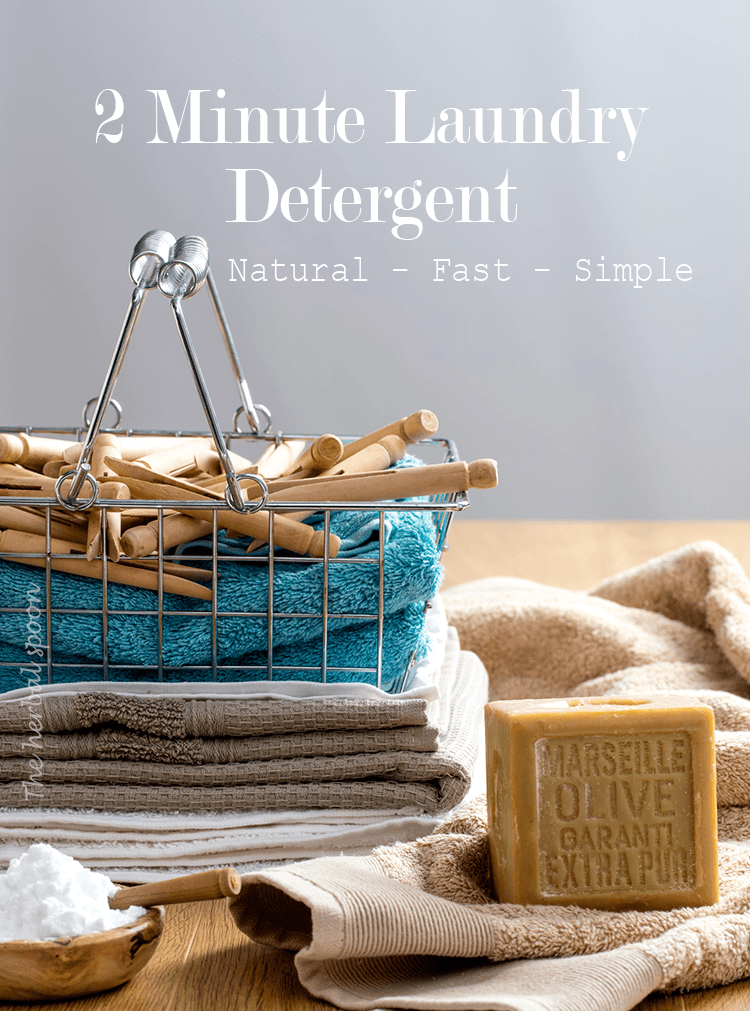 2 Minute Homemade Laundry Detergent