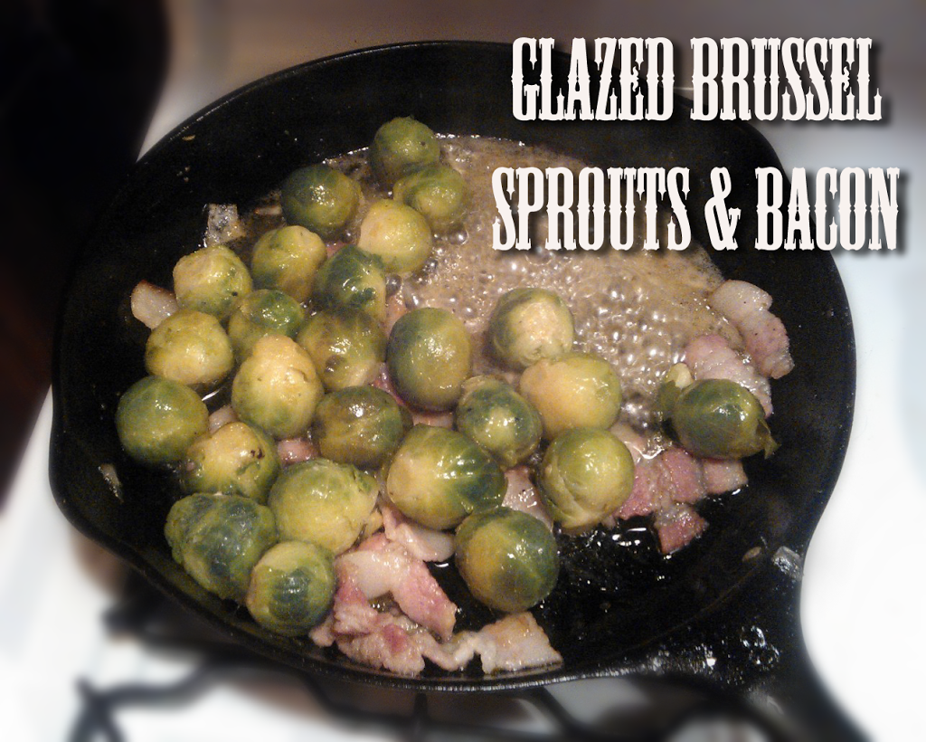 Glazed brussel sprouts and bacon - The Herbal Spoon