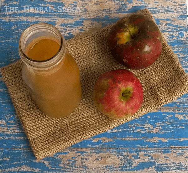 How to make apple cider from scratch, a canning recipe - The Herbal Spoon