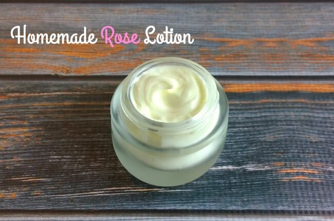 Homemade rose lotion recipe - The Herbal Spoon