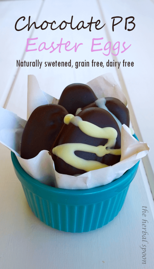 Healthy chocolate peanut butter eggs - like Reese's - Grain free, Dairy free, Naturally sweetened