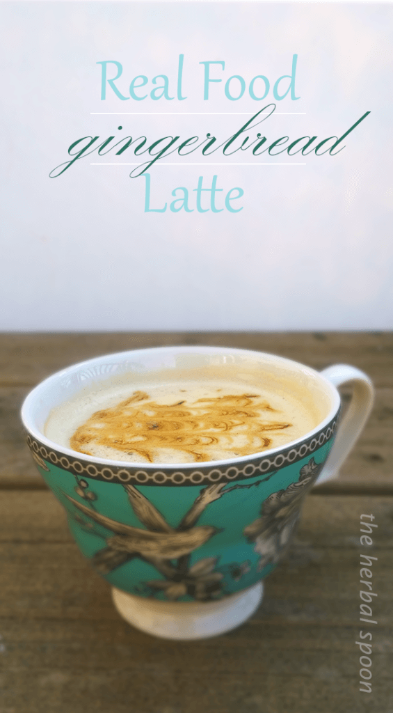 Nourishing gingerbread latte, naturally sweetened (with an herbal coffee option) - The Herbal Spoon