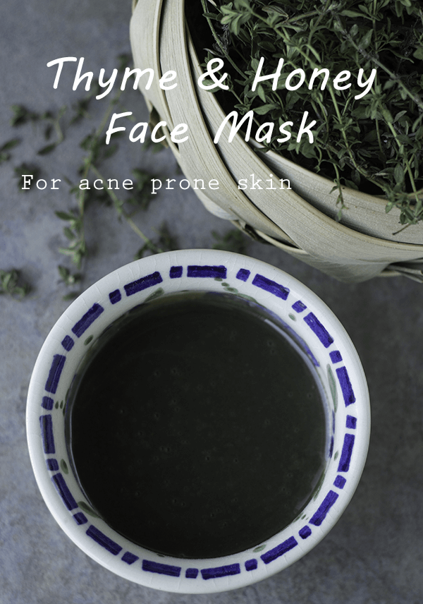 Raw honey and thyme face mask for acne and clearer skin - The Herbal Spoon
