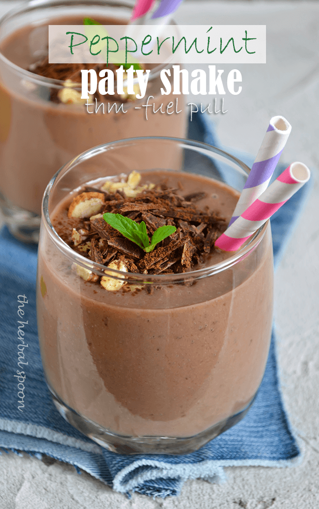 Healthy peppermint patty shake to help you lose weight, thm fuel pull - The Herbal Spoon